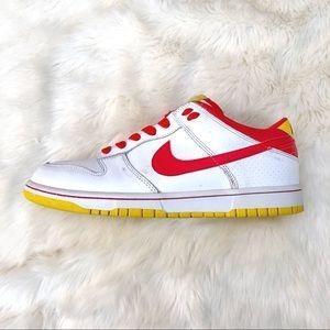 Nike Shoes - Nike NYX Dunk Low: White/Chili Red/Tour Yellow